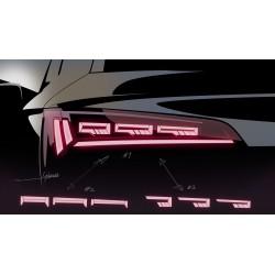 AUDI A7 4K światła tylne...